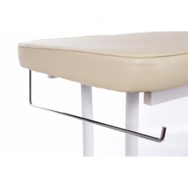 Stacionarus masažo stalas plieniniu rėmu (kreminis) 6