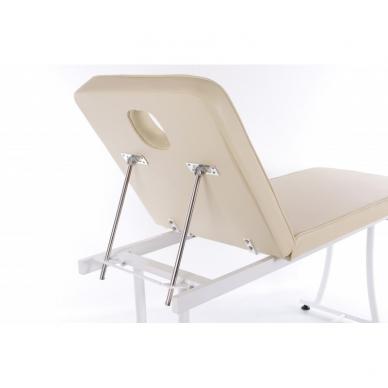 Stacionarus masažo stalas plieniniu rėmu (kreminis) 5