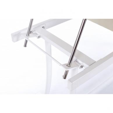 Stacionarus masažo stalas plieniniu rėmu (kreminis) 7