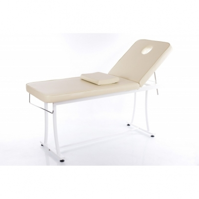 Stacionarus masažo stalas plieniniu rėmu Steel 2 (Beige) 2