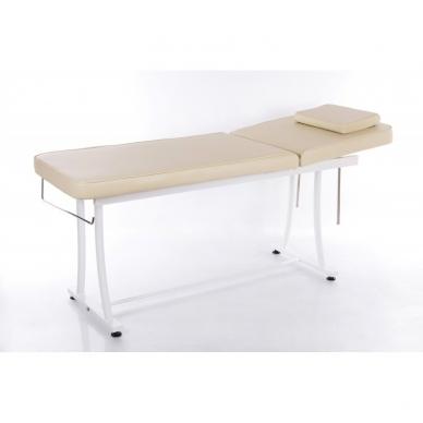 Stacionarus masažo stalas plieniniu rėmu (kreminis) 3