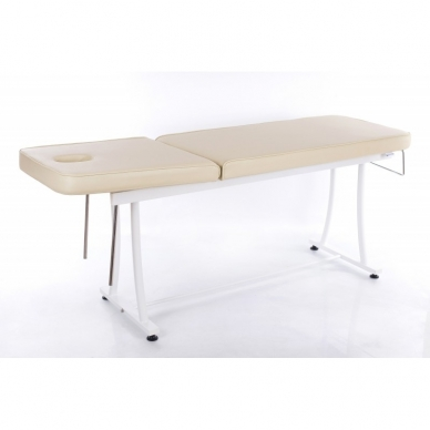 Stacionarus masažo stalas plieniniu rėmu (kreminis) 4