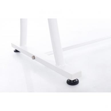 Stacionarus masažo stalas plieniniu rėmu (kreminis) 8