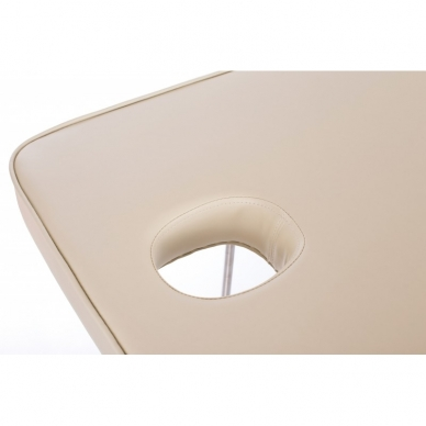 Stacionarus masažo stalas plieniniu rėmu Steel 2 (Beige) 9