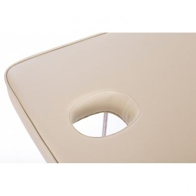 Stacionarus masažo stalas plieniniu rėmu (kreminis) 9