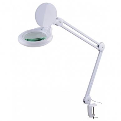 Prie stalo tvirtinamas LED šviestuvas su lupa 3D 14W 2