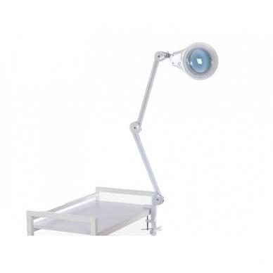 Prie stalo tvirtinamas LED šviestuvas su lupa 3D 14W 3