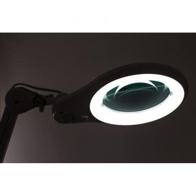 Prie stalo tvirtinamas LED šviestuvas su lupa 3D 14W 9