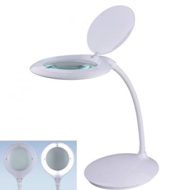 Kosmetologinė LED lempa su lupa 7.5W (stalinė)