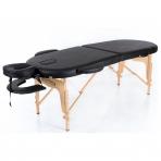 Sulankstomas masažo stalas Classic Oval 2 (Black)