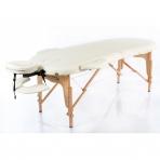 Sulankstomas masažo stalas Classic Oval 2 (Cream)