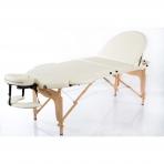 Sulankstomas masažo stalas Classic Oval 3 (Cream)
