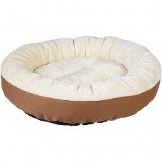 Koera voodi, 50 x 50 x 15 cm, beež-pruun