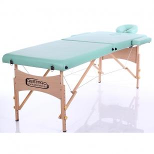 Saliekamais masāžas galds Classic 2 (BlueGreen)