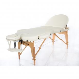Sulankstomas masažo stalas Vip Oval 3 (Cream)