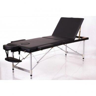 Sulankstomas masažo stalas ALU 3 (Black)