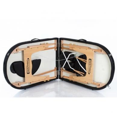 Sulankstomas masažo stalas Classic Oval 2 (Black) 3
