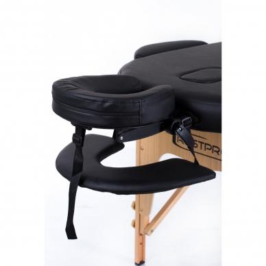 Sulankstomas masažo stalas Classic Oval 2 (Black) 7