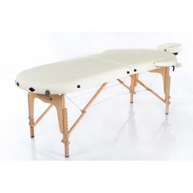 Saliekamais masāžas galds Classic Oval 2 (Cream) 2