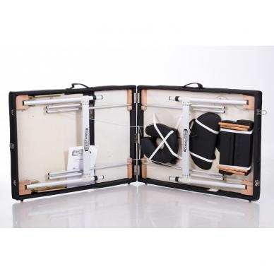 Sulankstomas masažo stalas ALU 3 (Black) 3