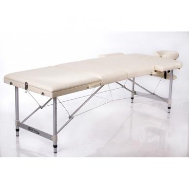Sulankstomas masažo stalas Restpro Alu 3/Cream 2