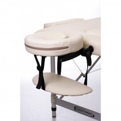 Sulankstomas masažo stalas Restpro Alu 3/Cream 8