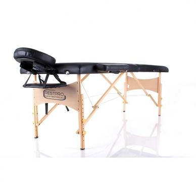 Sulankstomas masažo stalas Classic 2 (Black) 2