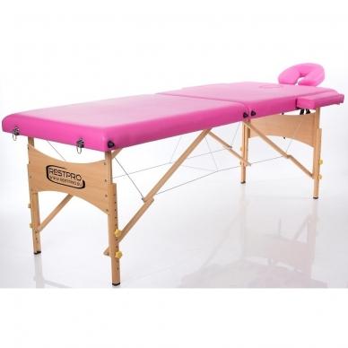 Sulankstomas masažo stalas Classic 2 (Pink) 4