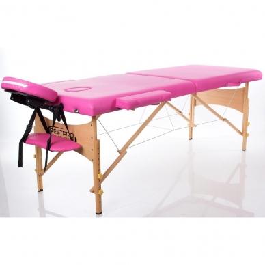 Sulankstomas masažo stalas Classic 2 (Pink) 2