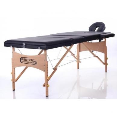 Sulankstomas masažo stalas Classic 3 (Black) 2