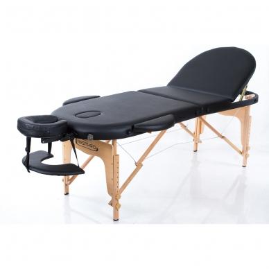 Sulankstomas masažo stalas Classic Oval 3 (Black)