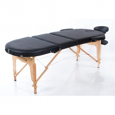 Sulankstomas masažo stalas Restpro Classic Oval 3/Black 3