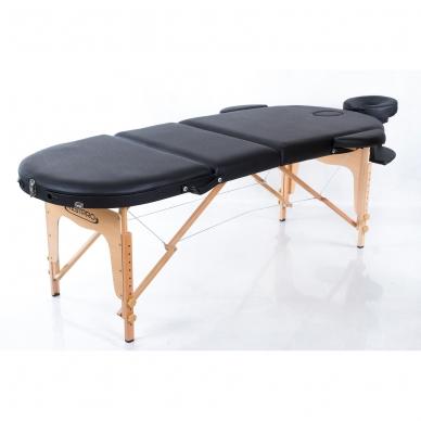 Sulankstomas masažo stalas Classic Oval 3 (Black) 3
