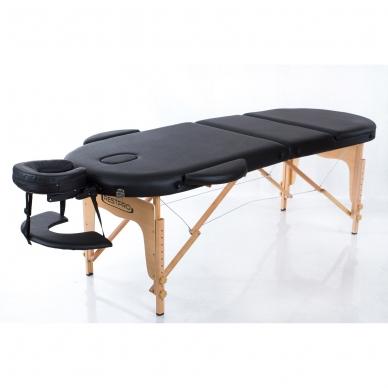 Sulankstomas masažo stalas Classic Oval 3 (Black) 2