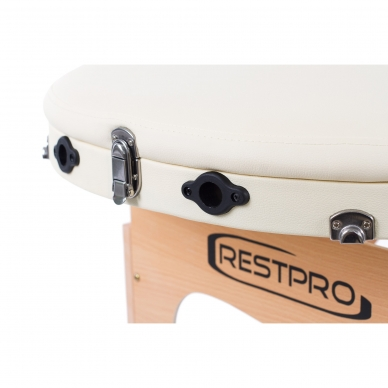 Sulankstomas masažo stalas Restpro Classic Oval 3/Cream 7