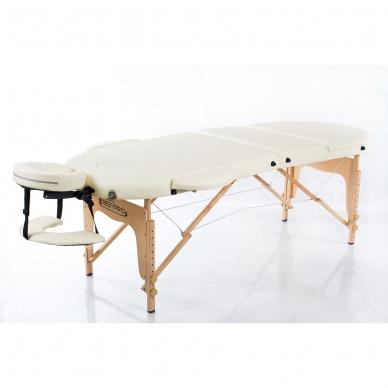 Sulankstomas masažo stalas Classic Oval 3 (Cream) 2