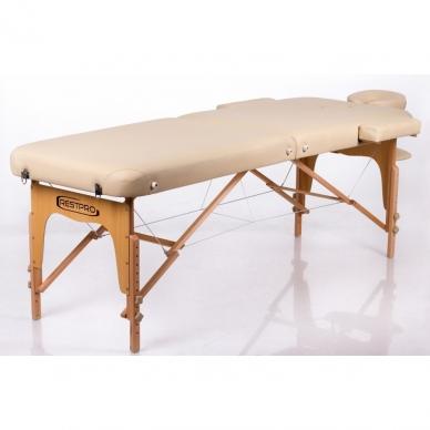 Sulankstomas masažo stalas Memory 2 (Beige) 2