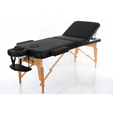 Sulankstomas masažo stalas Vip 3 (Black)