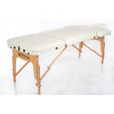 Sulankstomas masažo stalas Restpro Vip 3/Cream 2