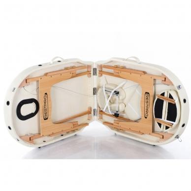 Sulankstomas masažo stalas Restpro Vip Oval 2/Cream 9