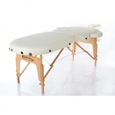 Sulankstomas masažo stalas Vip Oval 2 (Cream) 2