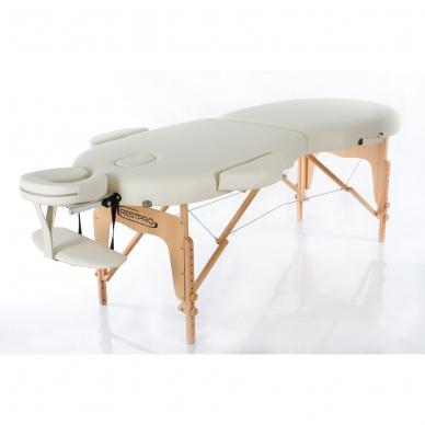 Sulankstomas masažo stalas Restpro Vip Oval 2/Cream