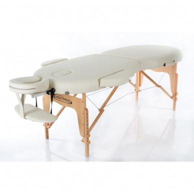 Kokkupandav massaažilaud Vip Oval 2 (Cream)
