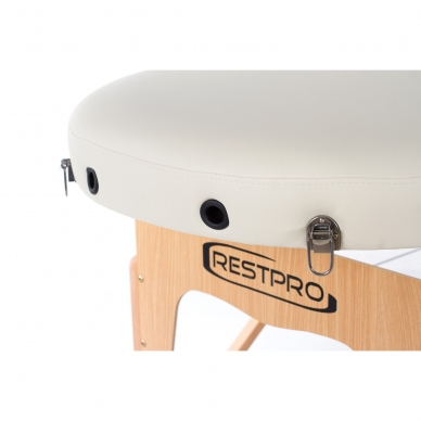 Sulankstomas masažo stalas Restpro Vip Oval 2/Cream 5