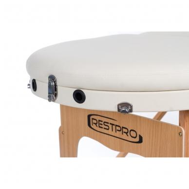 Sulankstomas masažo stalas Restpro Vip Oval 3/Cream 7