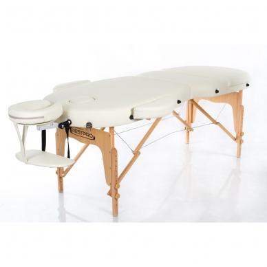 Sulankstomas masažo stalas Vip Oval 3 (Cream) 2