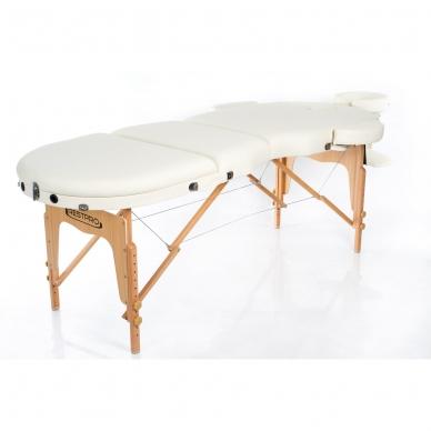 Sulankstomas masažo stalas Restpro Vip Oval 3/Cream 3