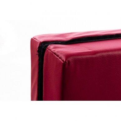 Sulankstomas sporto kilimėlis 116x116X5cm RED WINE 3