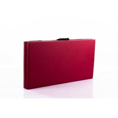 Salokāms sporta paklājs 116x116X5cm RED WINE 2