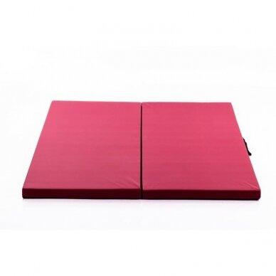 Salokāms sporta paklājs 116x116X5cm RED WINE